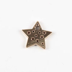 Μεταλλικό διακοσμητικό αστεράκι 10τεμ