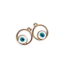 Μεταλλικό στρογγυλό μάτι μπλε 16mm 2τεμ