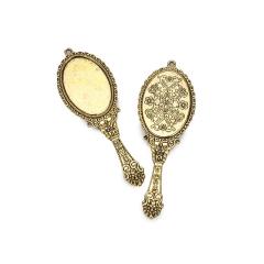 Καθρεπτάκι χρυσό μεταλλικό 75x25mm 2τεμ