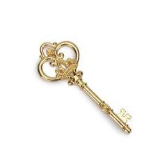 Μεταλλικό Vintage κλειδί χρυσό 85x30mm 2τεμ