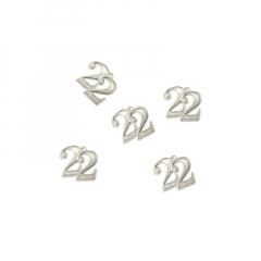Μεταλλικό κρεμαστό 22 ασημί 14mm 5τεμ