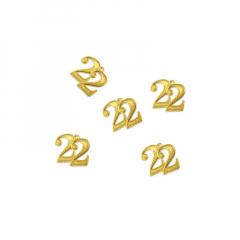 Μεταλλικό κρεμαστό 22 χρυσό 14mm 5τεμ
