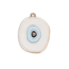 Μάτι χρυσό επισμαλτωμένο γαλάζιο 4x3εκ