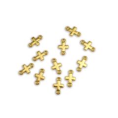 Μεταλλικοί σταυροί χρυσαφί 17x10mm 50τεμ