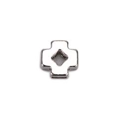 Σταυρός μεταλλικό ασημί 10x10mm 50τεμ