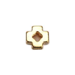 Σταυρός μεταλλικό χρυσαφί 10x10mm 50τεμ