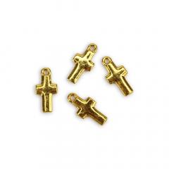 Μεταλλικός σταυρός χρυσός 2x0,9cm 50τεμ