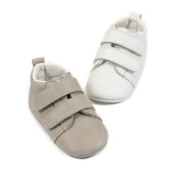 Δερμάτινο sneaker με διπλή μπαρέτα χρατς Babywalker