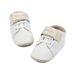 Δερμάτινο sneaker ελαστικό κλείσιμο & μπαρέτα χρατς Babywalker