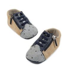 Δερμάτινο Sneaker με πλαϊνό άνοιγμα φερμουάρ Babywalker