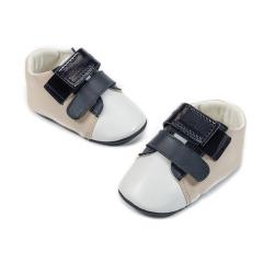 Δερμάτινα τρίχρωμα sneaker κλείσιμο μπαρέτες χρατς Babywalker