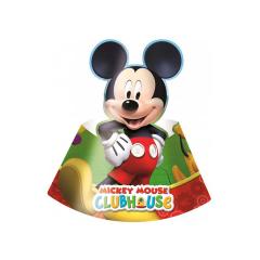 Χάρτινα καπελάκια με θέμα Mickey Mouse 6τεμ