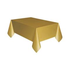 Πλαστικό τραπεζομάντιλο χρυσό 137x274εκ