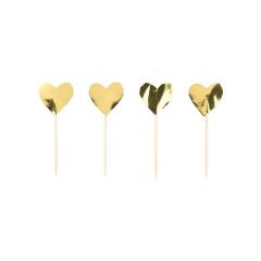 Διακοσμητικές οδοντογλυφίδες χρυσό μεταλλιζέ 24τεμ