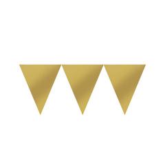 Χάρτινη γιρλάντα σημαιάκια χρυσά 450εκ