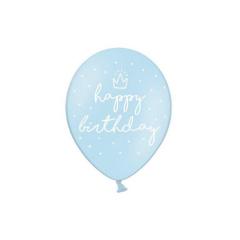 Σετ Μπαλόνια Happy Birthday γαλάζιο (6τεμ)