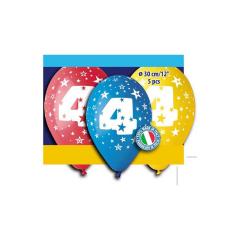 Μπαλόνι γενέθλια Νο 4 (5 τεμ)