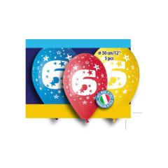 Μπαλόνι γενέθλια Νο 6 (5 τεμ)