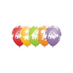 Μπαλόνια λατεξ Cute & Cuddly Dinosaurs 5τεμ