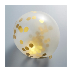 Μπαλόνι λατέξ με χρυσά κομφετί 12τεμ 30εκ.
