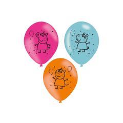 Μπαλόνια Λατεξ Peppa Pig 27,5 εκ - 6 τεμ