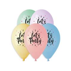 Μπαλόνι Let's Party παστέλ αποχρώσεις