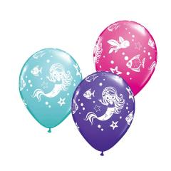 Μπαλόνια λατέξ Mermaid & Friends 5τεμ