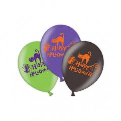Μπαλόνι latex Happy Halloween 6τεμ