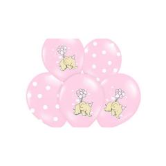 Σετ Μπαλόνια Ελεφαντάκι ροζ (6 τεμ)