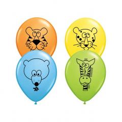 Μπαλόνια ζωάκια της ζούγκλας 28εκ 25τμχ