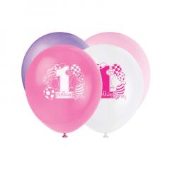 Μπαλόνια σε τέσσερα χρώματα για πρώτα γενέθλια