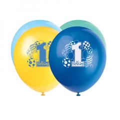 Μπαλόνια σε τέσσερα χρώματα για πρώτα γενέθλια αγοριού