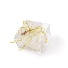 Μπομπονιέρα γάμου κουτάκι με κοχύλι χυσό
