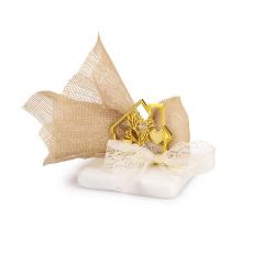 Μπομπονιέρα γάμου σπιτάκι σε πέτρινη βάση