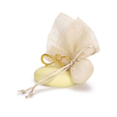 Μπομπονιέρα γάμου χρυσό άπειρο σε βότσαλο