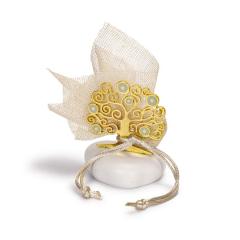 Μπομπονιέρα γάμου χρυσό δέντρο ζωής με μάτι