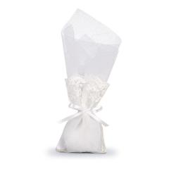 Μπομπονιέρα γάμου πουγκί δαντέλα με τούλι