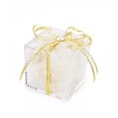 Μπομπονιέρα γάμου κουτάκι με πέρλα