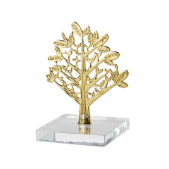 Μπομπονιέρα γάμου δέντρο ζωής σε γυάλινη βάση