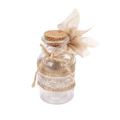 Μπομπονιέρα γάμου γυάλινο μπουκαλάκι