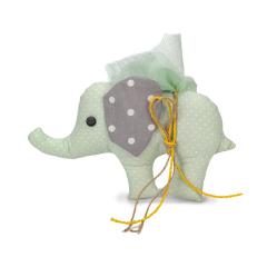 Διακοσμητικό μπομπονιέρας υφασμάτινο ελεφαντάκι