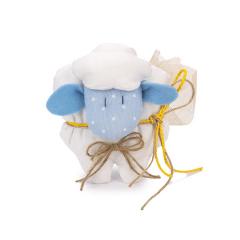 Μπομπονιέρα βάπτισης υφασμάτινο προβατάκι