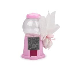 Μπομπονιέρα βάπτισης καραμελομηχανή ροζ