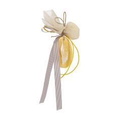 Μπομπονιέρα βάπτισης σαπουνάκι φτερό κίτρινο