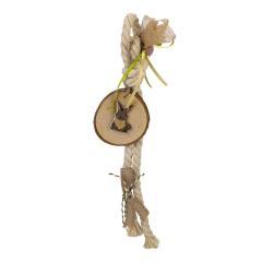 Μπομπονιέρα βάπτισης με ξύλινο κουνελάκι