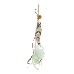 Μπομπονιέρα βάπτισης κρεμαστή ξύλινο φτερό ινδιάνου