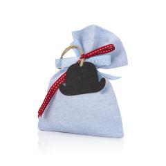 Μπομπονιέρα βάπτισης πουγκί με καπελάκι