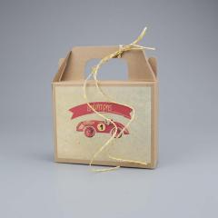 Μπομπονιέρα βάπτισης lunch box αυτοκινητάκι