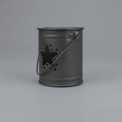 Μπομπονιέρα βάπτισης μεταλλικό βαζάκι μαύρο αστέρι