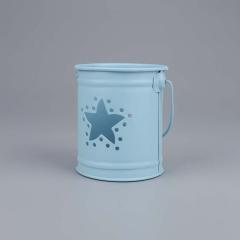 Μπομπονιέρα βάπτισης μεταλλικό βαζάκι γαλάζιο αστέρι